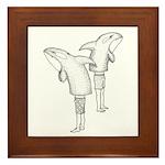 Orca People Framed Tile