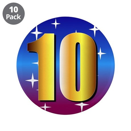 """dancing w/stars 3.5"""" Button (10 pack)"""