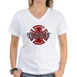 Submit Jiu Jitsu Women's V-Neck T-Shirt