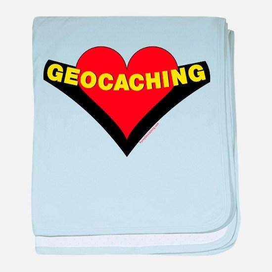 Geocaching Heart baby blanket