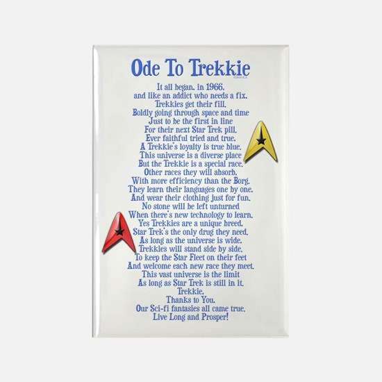 Ode To Trekkie Rectangle Magnet