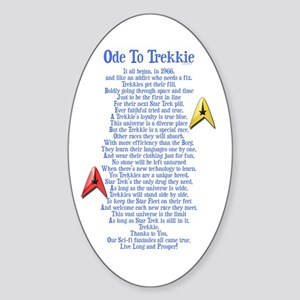 Ode To Trekkie Sticker (Oval)