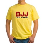 I Got Hooked BJJ Yellow T-Shirt