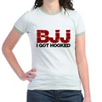 I Got Hooked BJJ Jr. Ringer T-Shirt