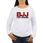 I Got Hooked BJJ Women's Long Sleeve T-Shirt
