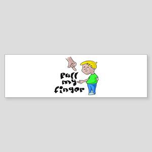 Pull My Finger Sticker (Bumper)