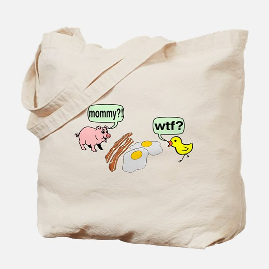 Bacon And Eggs Nightmare Tote Bag