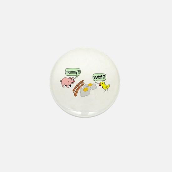 Bacon And Eggs Nightmare Mini Button