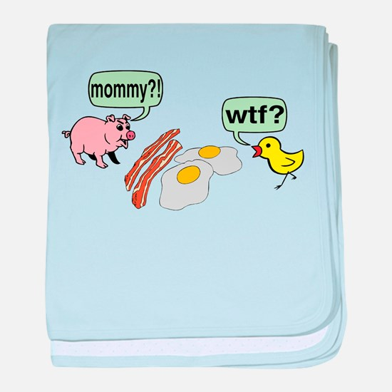 Bacon And Eggs Nightmare baby blanket