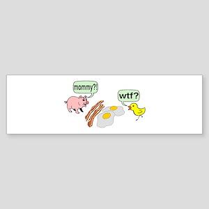 Bacon And Eggs Nightmare Sticker (Bumper)