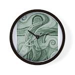 Singing to Van Gogh in Green Wall Clock