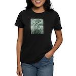 Singing to Van Gogh in Green Women's Dark T-Shirt