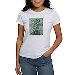Singing to Van Gogh in Green Women's T-Shirt