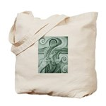 Singing to Van Gogh in Green Tote Bag
