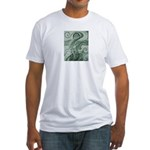 Singing to Van Gogh in Green Fitted T-Shirt
