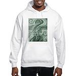 Singing to Van Gogh in Green Hooded Sweatshirt