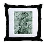 Singing to Van Gogh in Green Throw Pillow