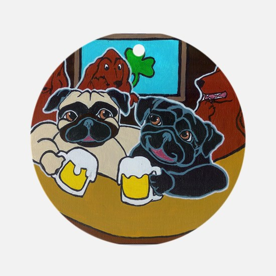 St. Puggy's Day Ornament (Round)