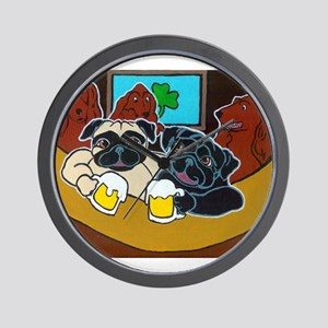 St. Puggy's Day Wall Clock