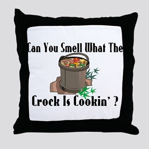 Crock Is Cookin Throw Pillow