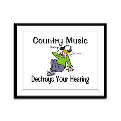 Country Music Framed Panel Print
