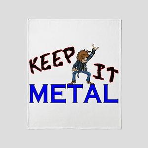 Keep It Metal Throw Blanket