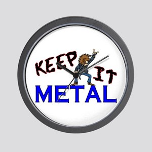 Keep It Metal Wall Clock