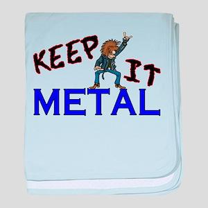 Keep It Metal baby blanket