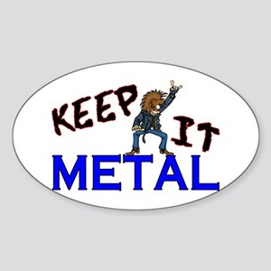 Keep It Metal Sticker (Oval)