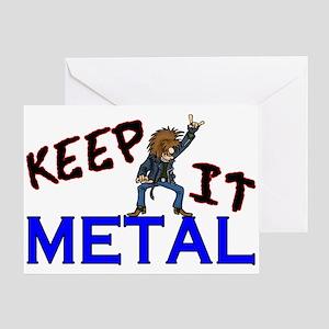 Keep It Metal Greeting Card