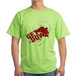 Get Down Jiu Jitsu skull Green T-Shirt