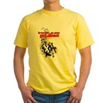 Get Down BJJ cross design Yellow T-Shirt