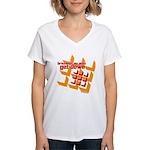 Get Down (squares design) Women's V-Neck T-Shirt