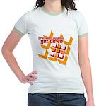 Get Down (squares design) Jr. Ringer T-Shirt