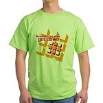 Get Down (squares design) Green T-Shirt