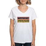 Choking Hazard Women's V-Neck T-Shirt