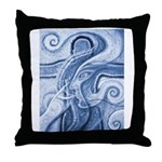 Singing the Van Gogh Blues Throw Pillow