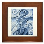 Singing the Van Gogh Blues Framed Tile