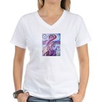 Singing to Van Gogh Women's V-Neck T-Shirt