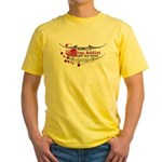 Tap Arms, Not Veins BJJ Yellow T-Shirt