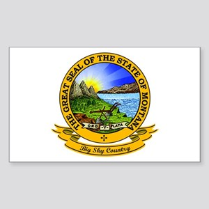 Montana Seal Sticker (Rectangle)