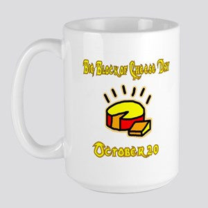 Big Block of Cheese - large mug (white)