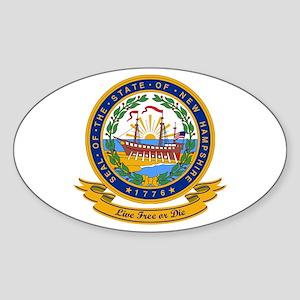 New Hampshire Seal Sticker (Oval)