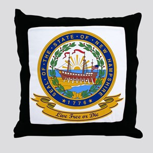 New Hampshire Seal Throw Pillow