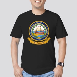New Hampshire Seal Men's Fitted T-Shirt (dark)
