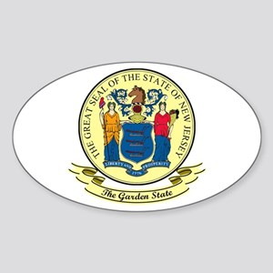 New Jersey Seal Sticker (Oval)