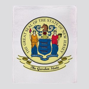 New Jersey Seal Throw Blanket