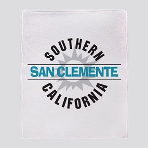 San Clemente California Throw Blanket