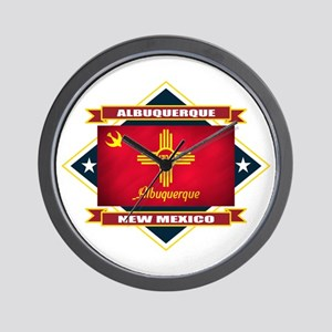 Albuquerque Flag Wall Clock