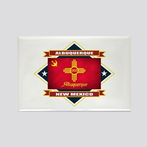 Albuquerque Flag Rectangle Magnet